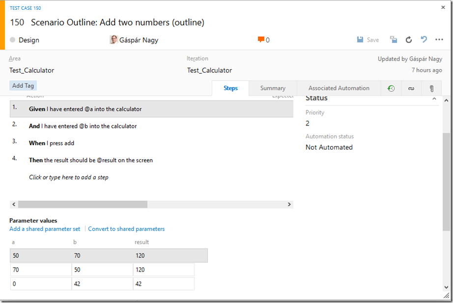 Integrating SpecFlow with Microsoft Test Manager (MTM